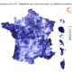 Carte de France du coefficient correcteur Suppression TH - EXFILO